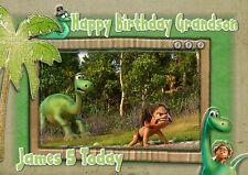 Personalised birthday card the good dinosaur son grandson daughter mj