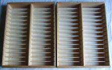 2 x Kassettenregal für jeweils 30 Tapes / MC Holz / Natur ca. 25,5 x 33,2 x 5,7