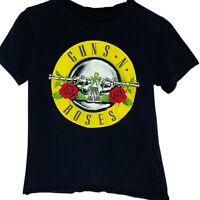 Guns N Roses Classic Logo Graphic Womens Black T-Shirt Size 12 Rock