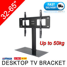 """32-65"""" Desktop Support Stand Bracket Mount Replacement LCD Plasma LED TV Screen"""