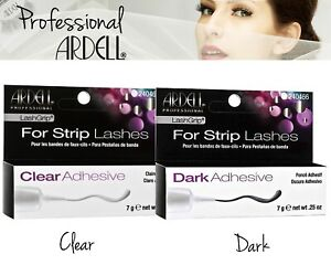 Ardell LashGrip Clear & Dark Waterproof False Eyelash Strip Adhesive Salon Look