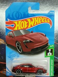 2021 Hot Wheels #208 Red Porsche Taycan Turbo S. Nice Brand New Package