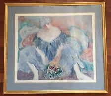"Barbara A. Wood ""BLUE LADY 1989"" Limited Edition Print Litho 531/975 Hand Signed"