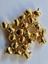 BB 10mm CHRISTMAS JINGLE BELLS GOLD pk of 20 or 50 craft bell xmas