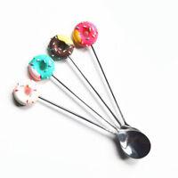 New Coffee Mini Kitchen Doughnut Spoon Flatware Dessert  Fork Stainless Steel
