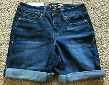 Womens Blue Seven 7 Bermuda Shorts Size 4