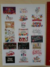 Happy Birthday, Geburtstags Etiketten Sticker, Aufkleber *NEU* 24 Stück