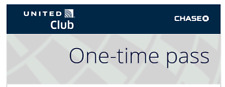 United Club One Time Pass - Expire 08/04/2021 - E-Delivery