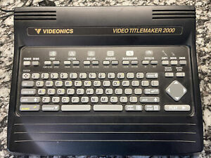 Videonics Video TitleMaker MODEL TM-2000 Excellent Condition - Tested & Working