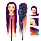 27'' Training Head Hairdressing Hairstyles Mannequin Doll Synthetic Hair Clam