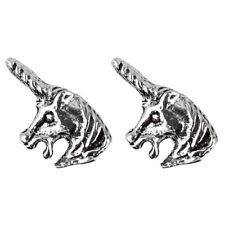 Design Stud Earrings - Boxed Childrens 925 Sterling Silver Unicorn Head