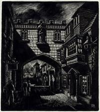 BERNARD NINNES (1899-1971) Scratchboard Drawing SALISBURY - 20TH CENTURY