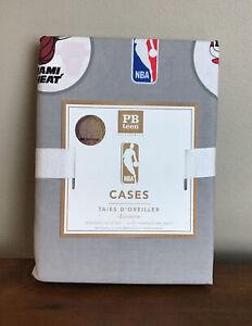 Pottery Barn PB Teen NBA Eastern Basketball Set of 2 Standard Pillowcases Sport