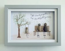 More details for personalised pebble wall art framed picture gift birthday birth home christening