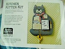 Vintage 1986 Kitten Kitchen Memo Board Command Center Craft Kit Key Hooks Pocket