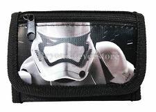 "New Disney Star Wars ""The Force Awaken"" Storm Tropper Tri Fold Wallet - Black"