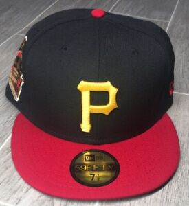 New Era Pittsburgh Pirates 1959 All Star Game Hat Black/Red 7-1/2 *see descrip*