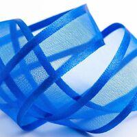 Satin Edge io Organza Sheer Chiffon Ribbon - Choose Colour, Width and Length