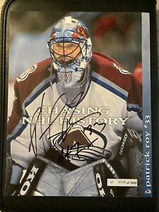 Patrick Roy Autographed 8.5x11 Lineup Card Colorado Avalanche Inscribed 447
