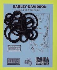 Sega / Stern Harley Davidson 1st / 2nd / 3rd Etidion pinball rubber ring kit
