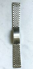 Bracelet acier MOVADO ZENITH 18 mm acier boucle déployante vintage 70/80