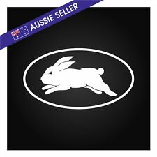 Sydney Rabbitohs Souths Rabbits Sticker WHITE Outline Vinyl Decal 18cm