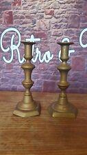Antique Vintage Old Solid Pair Brass Candle Holder Candlestick Candelabra