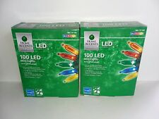 Lot of 2 Home Accents 100 Led Multi-Color Mini Lights Indoor/Outdoor New In Box