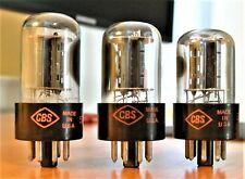6SN7GTB CBS Short Bottle Audio Receiver Vacuum Tubes Tested Trio