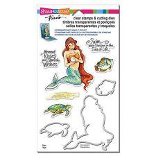 STAMPENDOUS Fran's CLEAR STAMPS & DIE SET MERMAID & FRIENDS Turtle Fish
