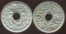 5 centimes  LINDAUER 1931   (  SPL  )