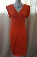 NEXT BNWT Premium tunic plunge open back orange dress wedding occasion party 18