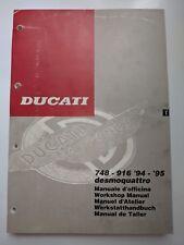1994 - 1995  DUCATI 748 - 916 DESMOQUATTRO SERVICE WORKSHOP MANUAL