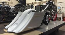 Harley Stretched Extended Saddle Bags and Rear Fender Tail Dragger 2014-2015