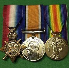 1914-15 Star, British War Medal 1914-20, Victory Medal Replica Set!