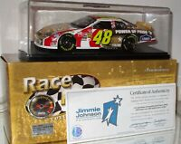 2003 Jimmie Johnson #48 Lowe's/Power of Pride AUTOGRAPHED GOLD RFO W/Case & COA