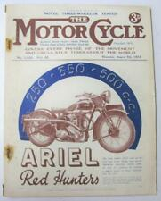 The Motor Cycle 9 Aug 1934 Magazine Stromer Three Wheelers New Imperial Twin