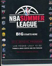 George Karl Chris Mullin Tom Thibodea  2013 NBA Summer League Autgraphed Program