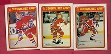 (3) O-PEE-CHEE 1990-91 CENTRAL RED ARMY INSERT  CARD