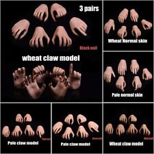 1/6 Scale Wheat/Pale Skin Hands Claw Model For 12'' Phicen Female Figure Body