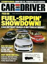 CAR & DRIVER 2009 FEB - NEW MUSTANG GT, M3 vs CARRERA, 370Z, HYBRIDS DUEL