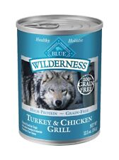 BLUE BUFFALO TURKEY & CHICKEN GRILL ADULT FOOD Canned 12.5oz