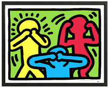 Keith Haring SEE NO EVIL Framed 16x20 Giclee Pop Art Print **SALE