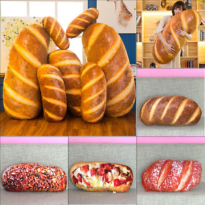 3D Simulation Bread Shape Pillow Soft Lumbar Back Cushion Plush Stuffed Toy Gift