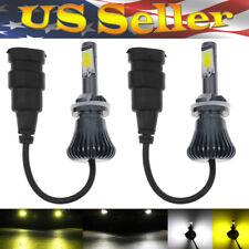 2 pcs 880 885 White + Yellow Dual Color LED Fog Light Driving Bulb DRL US Seller