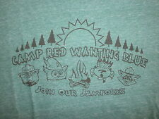 RED WANTING BLUE T SHIRT Camp Jamboree Band Concert Tour RAYON Softest Retro L