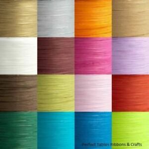7mm Paper Raffia Ribbon - Favour Decoration Wrapping Crafts 5m Cut 100m Reel