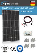 12V 100W Xplorer German Cell Solar Panel Kit | Caravan | Boat | Motorhome