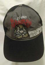 Grumpy Disney Parks Baseball Adjustable Black Gray Cotton Cap Hat