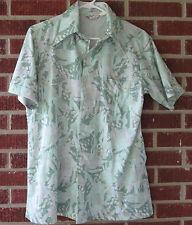 Vintage 70s Capri California by David Langman Shirt Size Medium M Floral